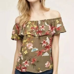 Maeve • Vallita Off Shoulder Floral Top